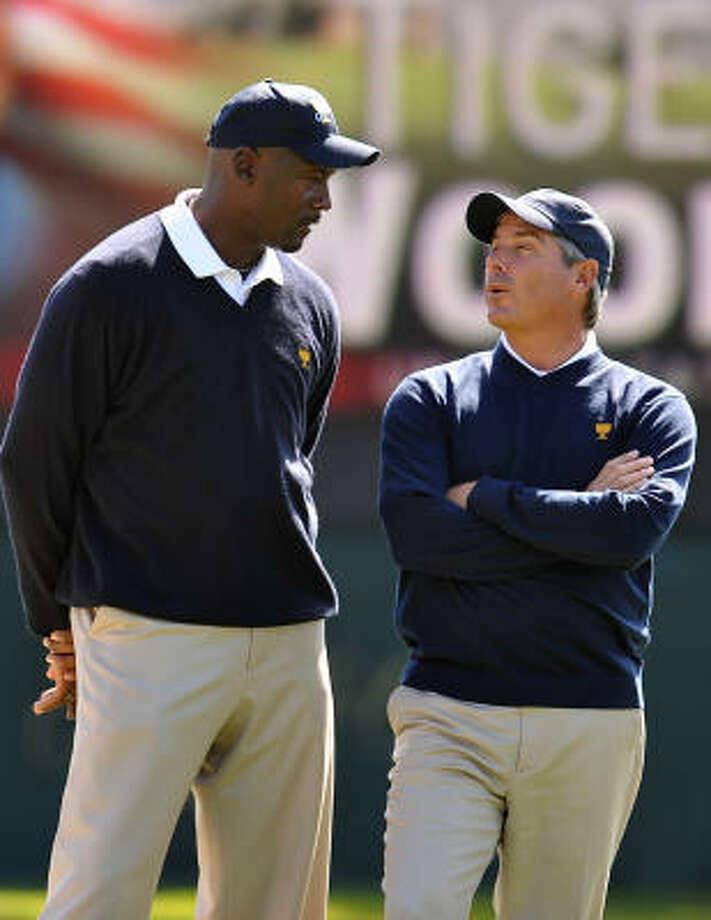 """Jay Haas will be Fred Couples' assistant captain, while Michael Jordan, left, will be an """"assistant's-assistant,'' Couples said. Photo: ROBYN BECK, AFP/Getty Images"""
