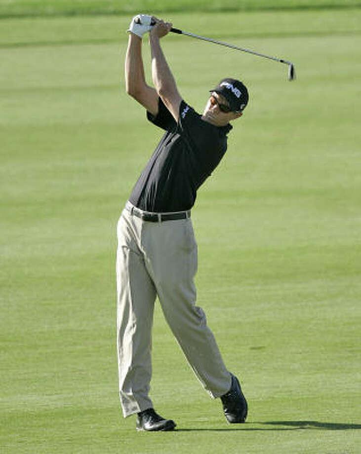 Nick O'Hern putted only nine times while posting a 28 on the par-35 back nine at Grayhawk Golf Club. Photo: Jason Babyak, AP