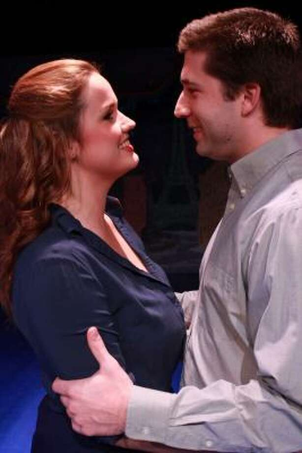 Christina Stroup (Janey) and Jamie Geiger (Ralph) are the bride- and groom-to-be in Main Street Theater's Houston premiere of A Catered Affair. They just want a simple wedding - but family pressures make that an impossibility. Photo: Art Ornelas :, RicOrnelProductions.com