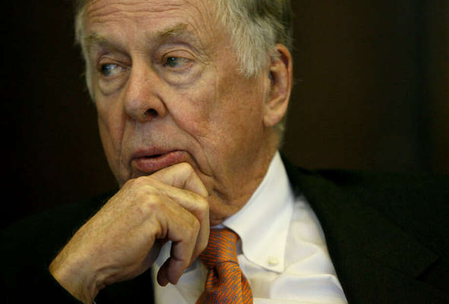 """I'm for everything American — all of it — coal, nuclear, anything American,"" T. Boone Pickens says. The oilman considers the money the U.S. spends on foreign petroleum ""the greatest transfer of wealth in the history of mankind."" Photo: Karen Warren:, Chronicle"