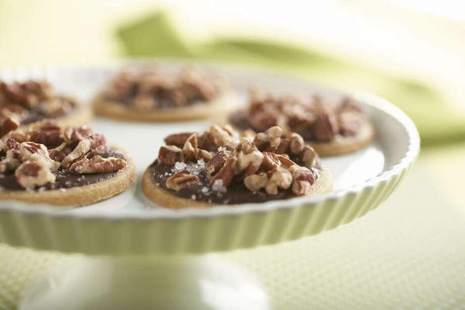 Toffee Cookies With Dark Chocolate Glaze Photo: JOYCE OUDKIRK POOL