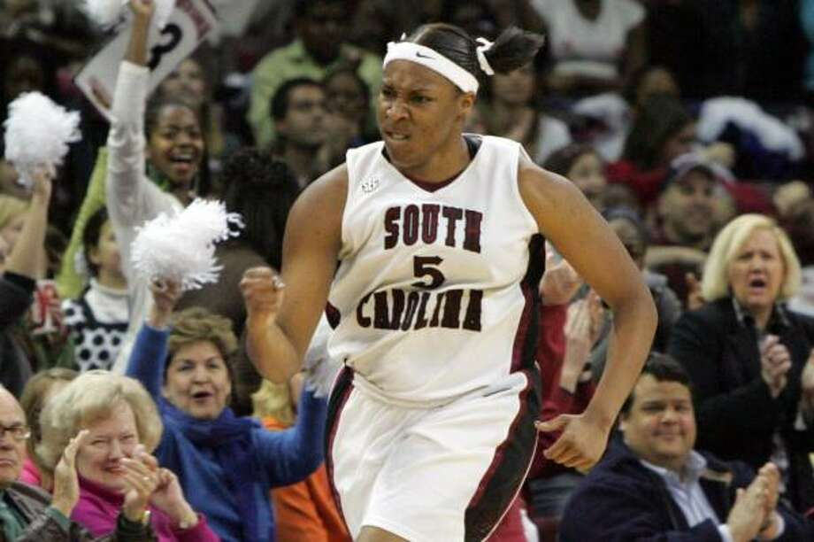 Kelsey Bone played one season for South Carolina before the school announced her departure. Photo: Mary Ann Chastain, AP