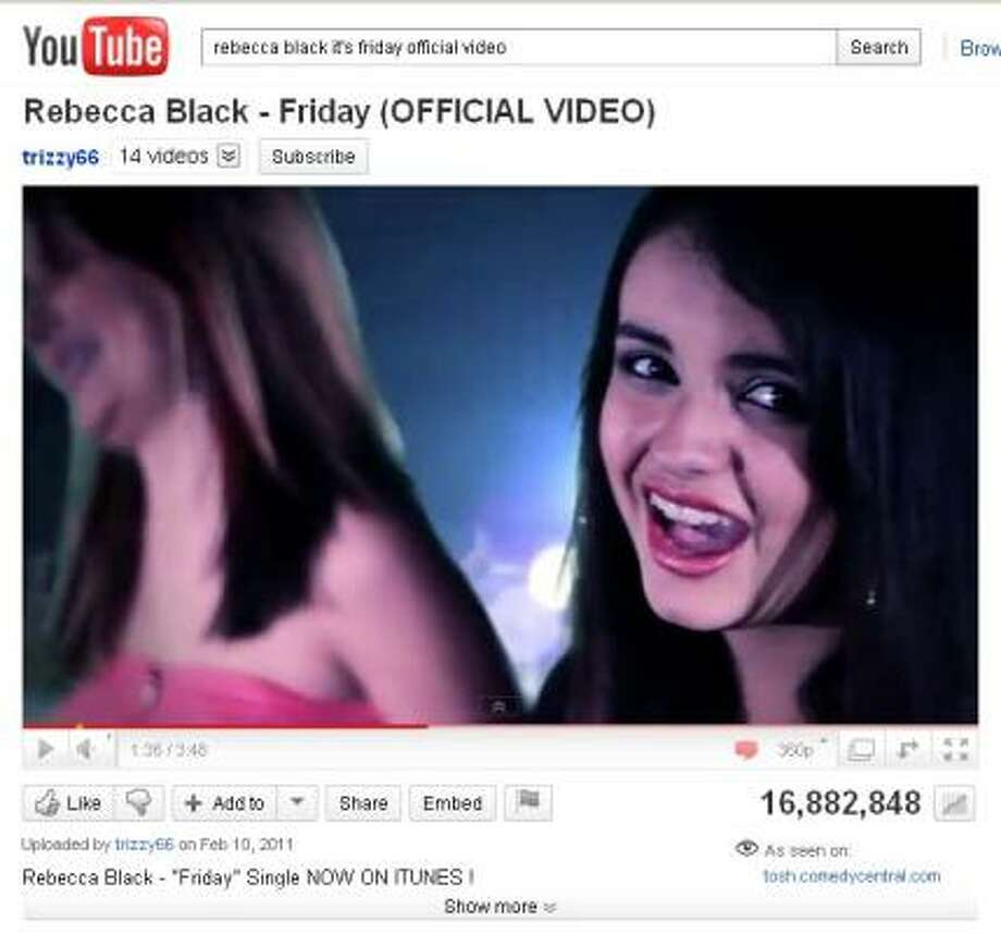 Some already are calling Rebecca Black's debut the worst song of 2011. Photo: YOUTUBE