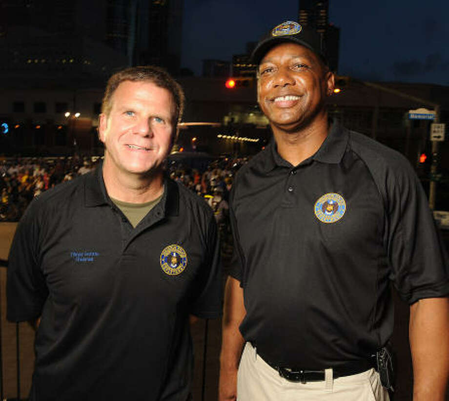 Tilman Fertitta and HPD Chief Charles McClelland Photo: Dave Rossman, For The Chronicle