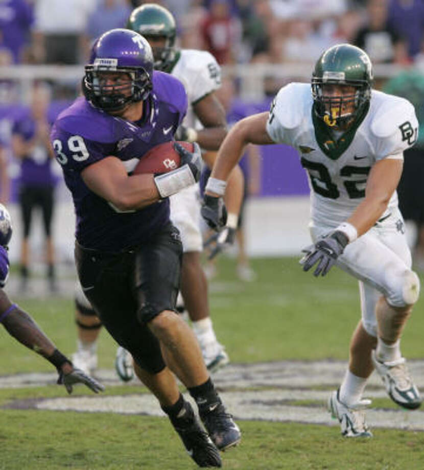 At TCU, Waller's Jason Phillips made first- or second team all-conference in four consecutive seasons. Photo: Donna McWilliam, AP