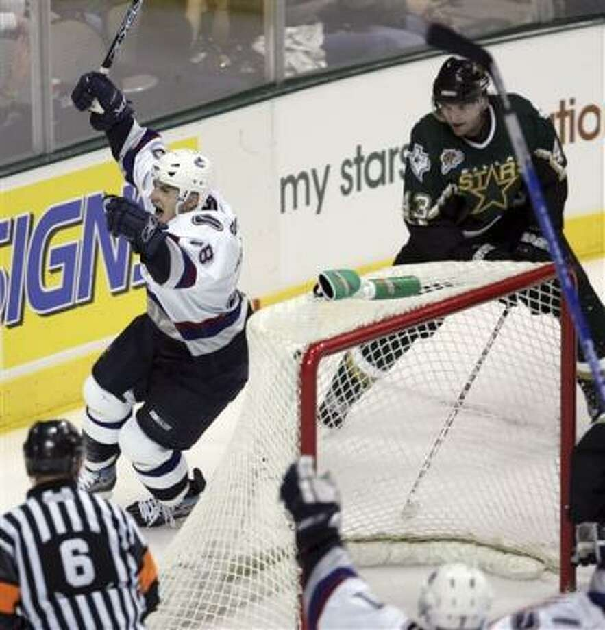 Jan Bulis had the other goal against Dallas. Photo: Tim Sharp, AP