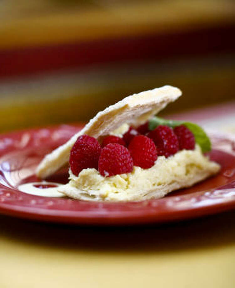 A close-up on Bistro Don Camillo's  delicate mille-feuille. Photo: Michael Paulsen, Chronicle