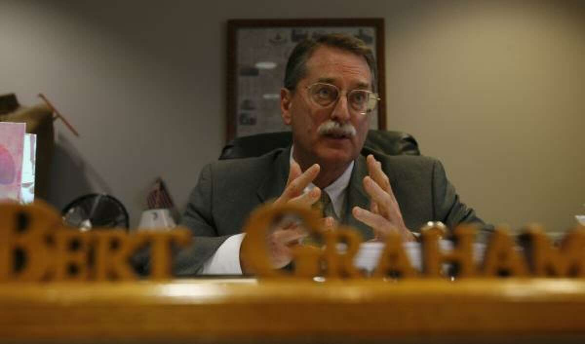 First Assistant District Attorney Bert Graham will take over Chuck Rosenthal's duties until the governor appoints a successor.