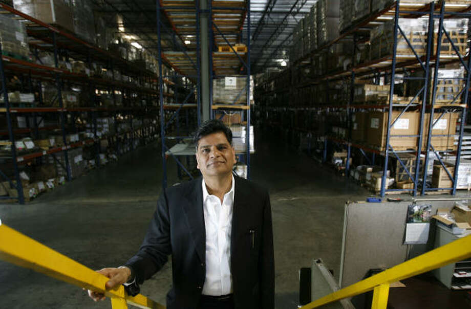 Jugal Malani has upgraded security at his Sugar Land company, Unique Industrial Products, after an attack by hackers. Photo: Karen  Warren, Chronicle