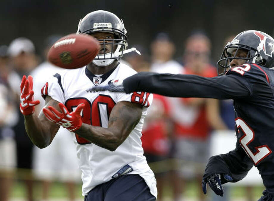 Andre Johnson has always put up big numbers, but last year was particularly impressive. His 115 receptions for 1,575 yards led the NFL and his 79 first downs were tops among receivers. He became just the third player in NFL history to catch for 130 or more yards in four consecutive games. Photo: Brett Coomer, Chronicle
