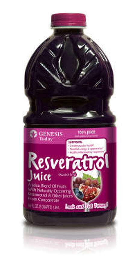 Resveratrol juice from Genesis Today, an Austin-based company, is a vitamin, mineral and antioxidant drink that supports cardiovascular health. Photo: Genesis Today
