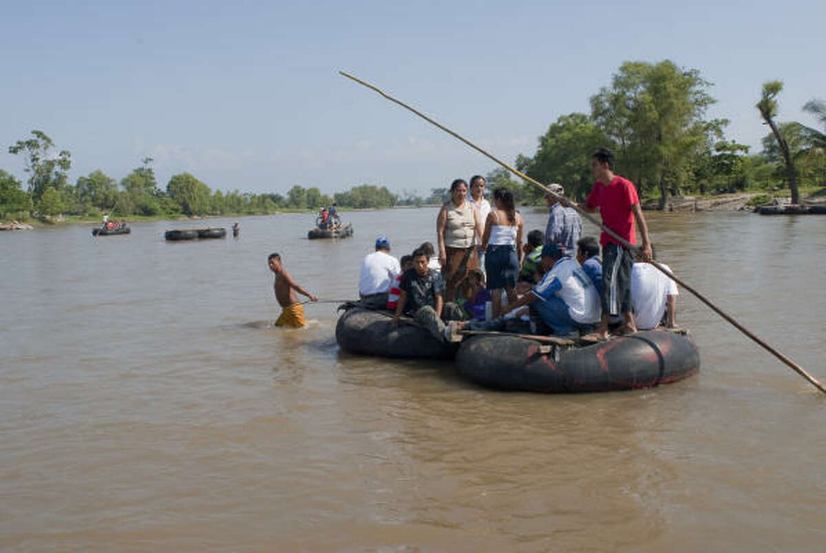 Crossing the Suchiate River from Guatemala to Mexico is just the start of an 1,100-mile perilous journey for many migrants looking to illegally enter the United States.