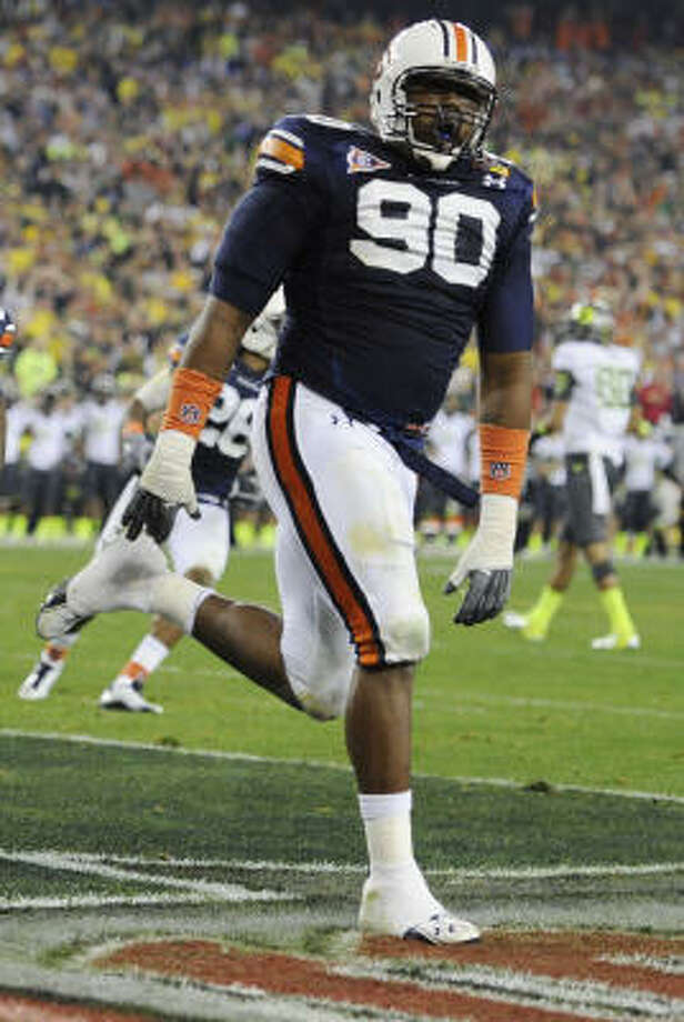 The best and most dominant player on the field in the national championship was Auburn defensive lineman Nick Fairley. Photo: Mark J. Terrill, AP