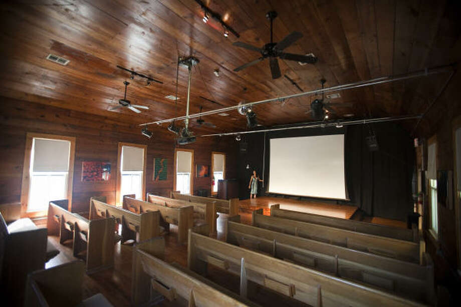 The 14 Pews project is taking over the former location of the Aurora Picture Show at 800 Aurora. Photo: Eric Kayne, For The Chronicle