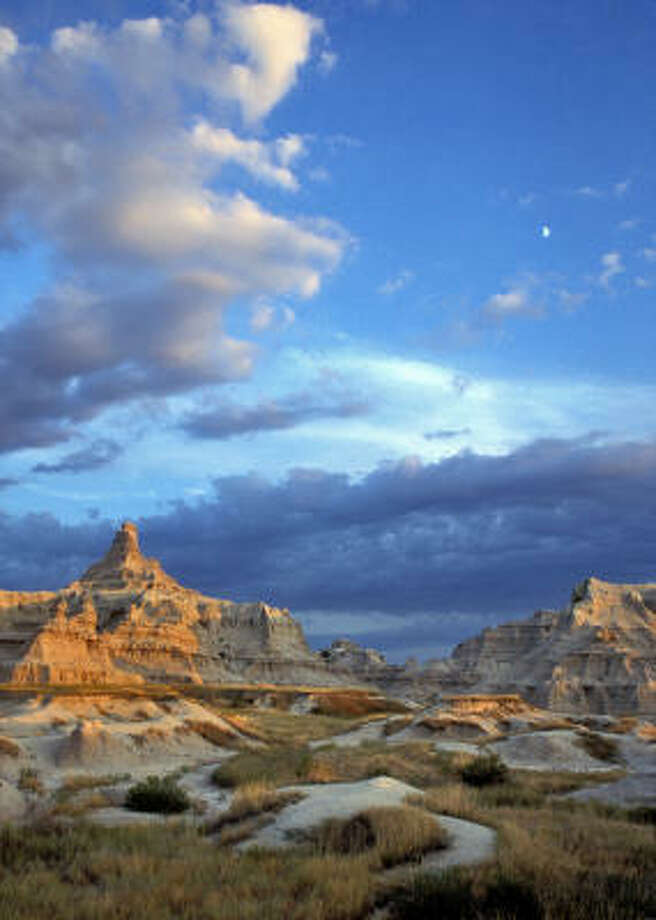 """Badlands National Park is a scenic moonscape once described by Gen. George Armstrong Custer as """"hell with the fires burned out."""" Photo: South Dakota Tourism"""