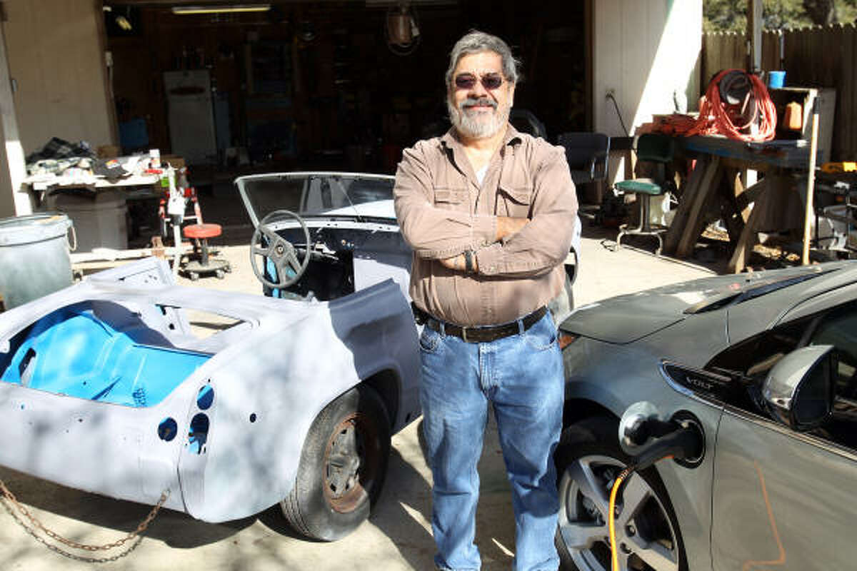 """Don Heihn of San Antonio owns a Volt. """"It just turned over 1,000 miles, and I've only used 5.6 gallons of gas,"""" he said."""