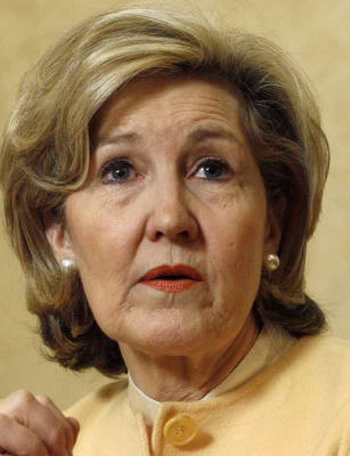 Sen. Kay Bailey Hutchison, shown in Austin on Saturday, said she is fully prepared for what she calls Gov. Rick Perry's negative campaigning. Photo: Harry Cabluck, Associated Press