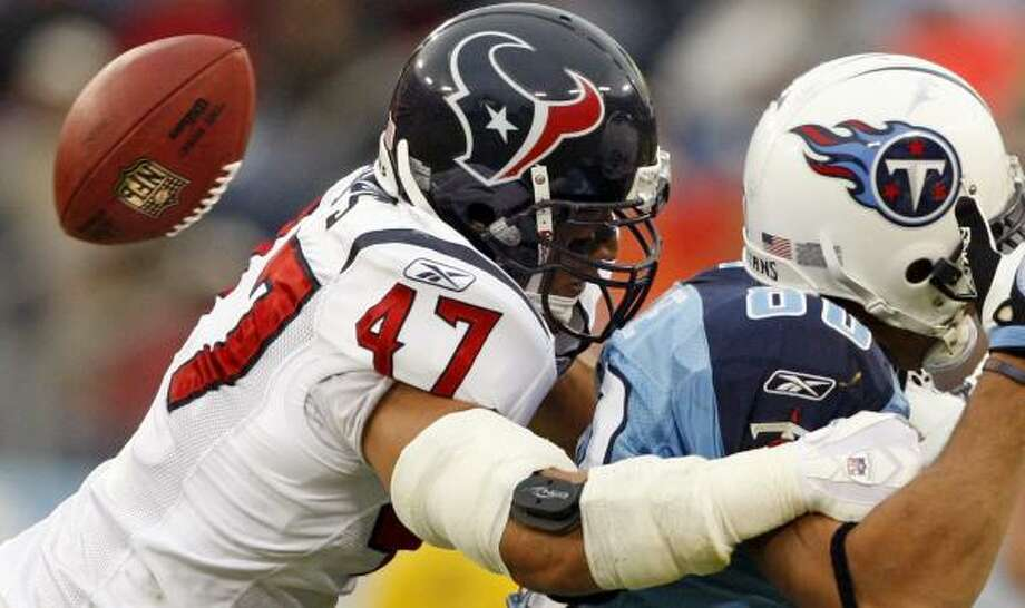 Texans safety Will Demps (47) went undrafted in 2002. Photo: John Russell, AP