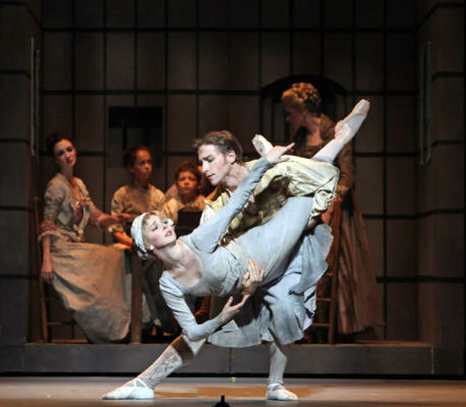 Act 3 brings the best pas de deux as Marie (Melody Herrera) and Louis (Ian Casady) say  goodbye. Photo: Amitava Sarkar, Houston Ballet