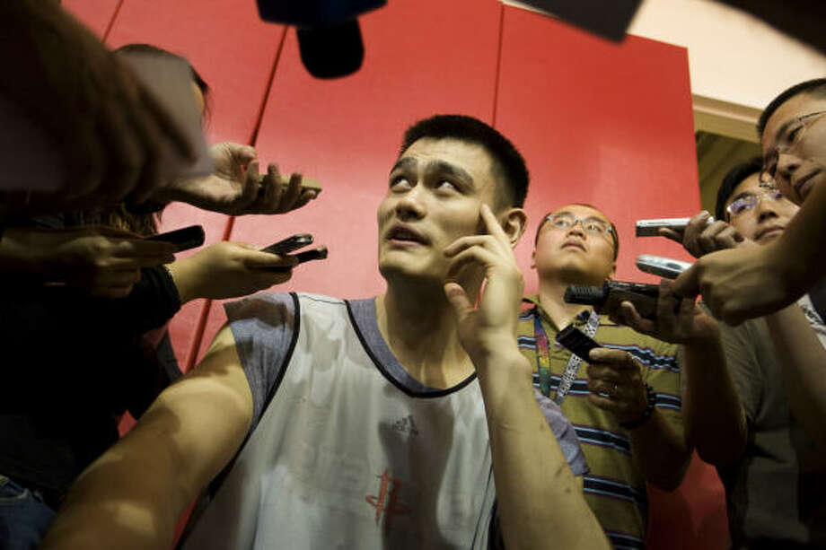 Yao Ming, above, held to 11 points in Tuesday's loss to Portland, and the Rockets will have a chance to rectify offensive woes from Game 2 when they host Game 3 against Portland tonight. Photo: Brett Coomer, Chronicle
