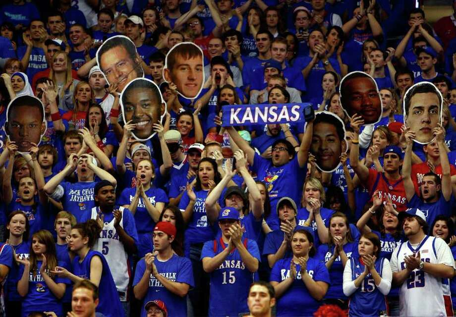 "Kansas fans pack ""The Phog,"" Allen Fieldhouse, one of the most exciting places in the country to watch college basketball. Photo: Jamie Squire/Getty Images / 2008 Getty Images"