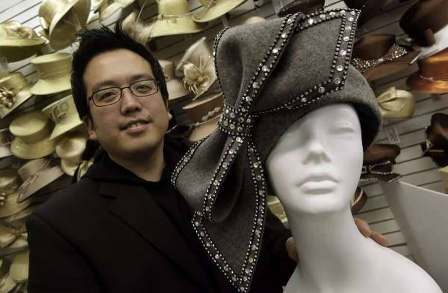Luke Song, 36, designed the hat Aretha Franklin wore while singing My Country 'Tis of Thee during President Obama's inauguration. Song says orders have poured in from around the world for the church hat. Photo: Paul Sancya, Associated Press