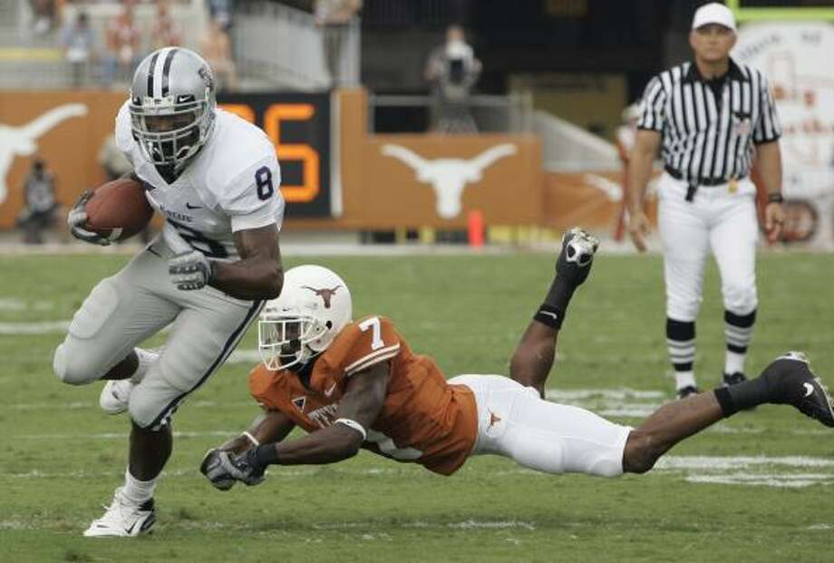 James Johnson and Kansas State ran all over the Longhorns in Austin. Photo: Harry Cabluck, AP