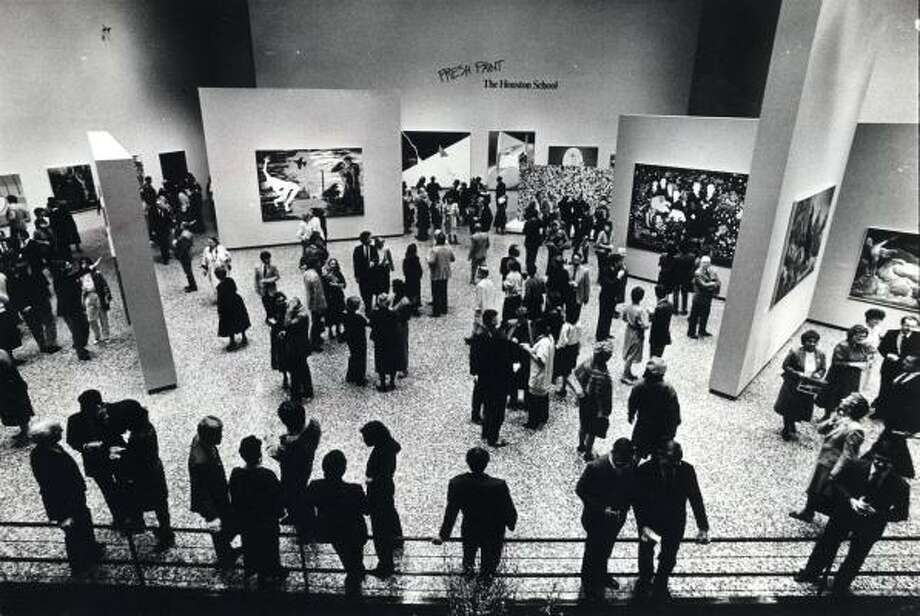 A total of 5,655 people attended opening night of the exhibit Fresh Paint at the Museum of Fine Arts, Houston, in 1985. Photo: MUSEUM OF FINE ARTS, HOUSTON