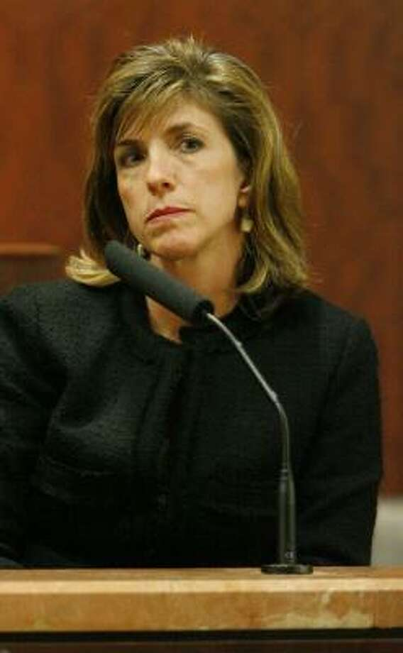 District attorney candidate Kelly Siegler testifies at a hearing Monday. Photo: STEVE CAMPBELL, CHRONICLE