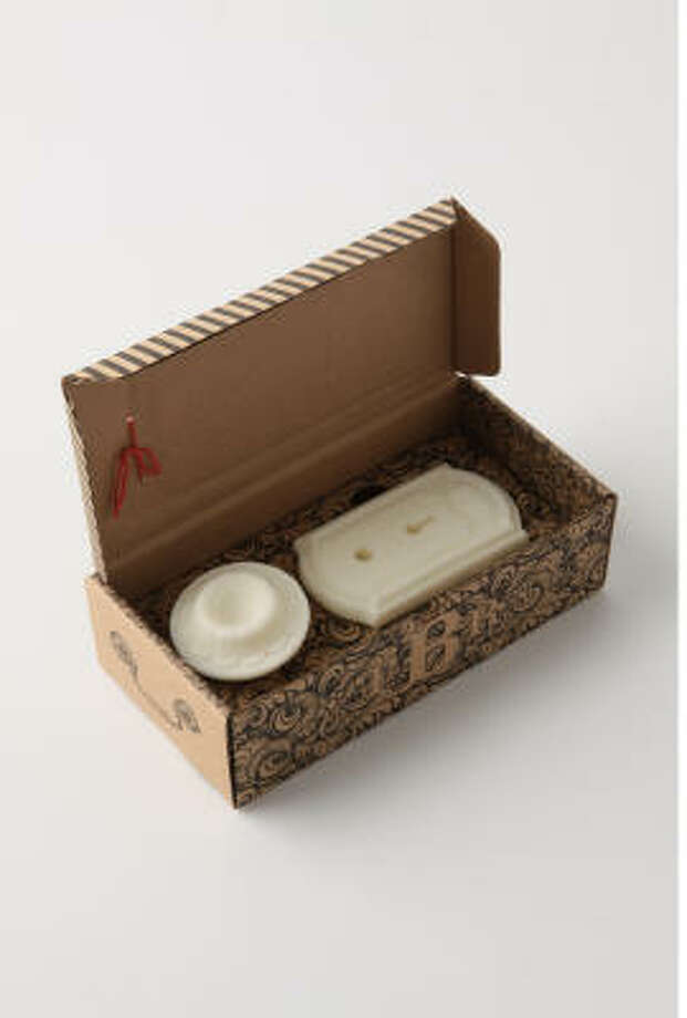 Natural hand-poured soaps from Bubble Roome are inspired by details from homes of a different era. Photo: ANTHROPOLOGIE