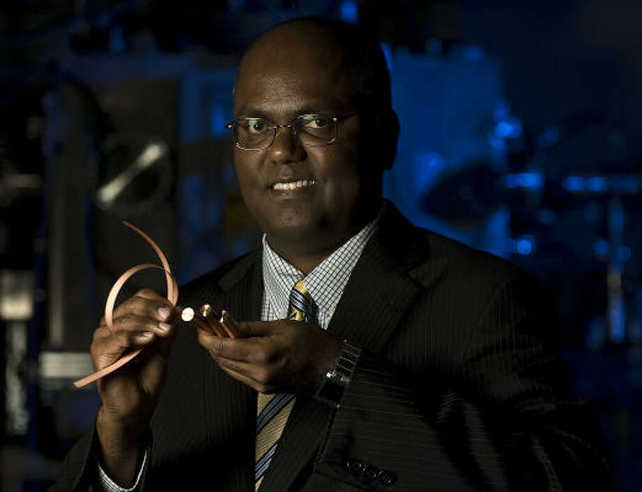 Venkat Selvamanickam, who co-founded a company that makes superconducting electrical wire, has returned to Houston, bringing his company's entire research division from New York to the Bayou City. Photo: James Nielsen :, Chronicle