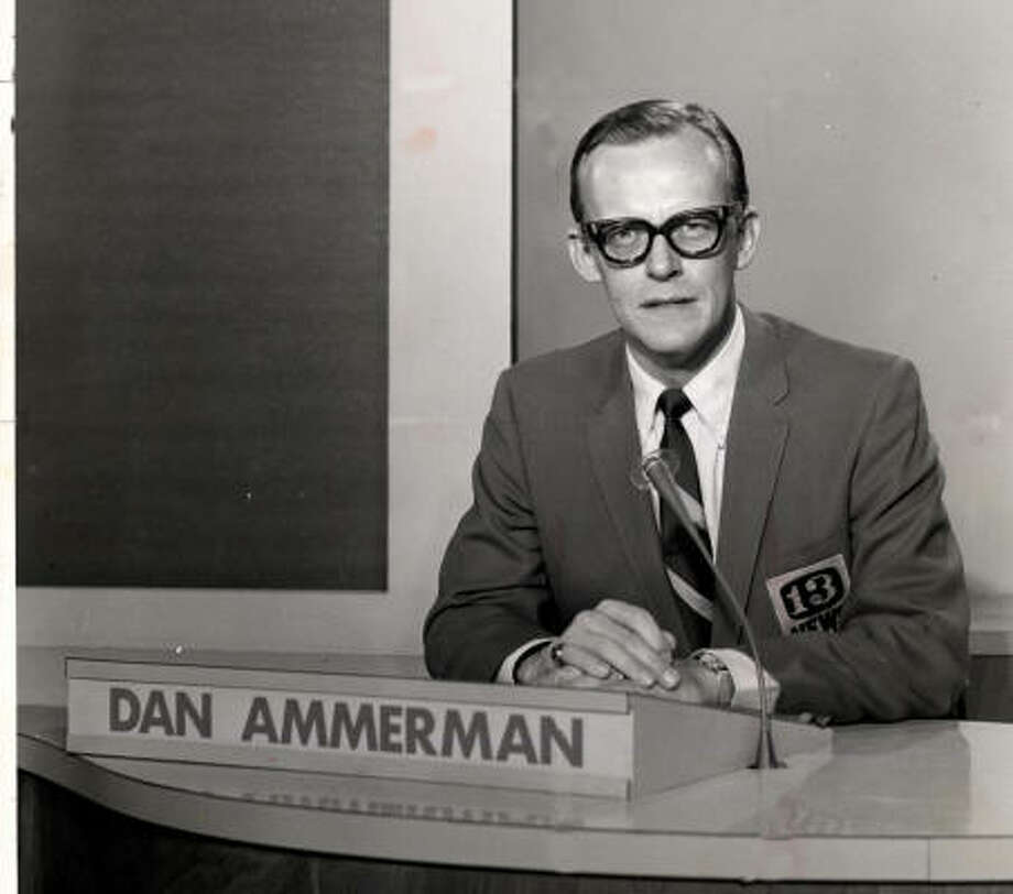 Dan Ammerman anchored on KTRK for the station's original Eyewitness News broadcasts in the late 1960s and early 1970s. Photo: Chronicle File