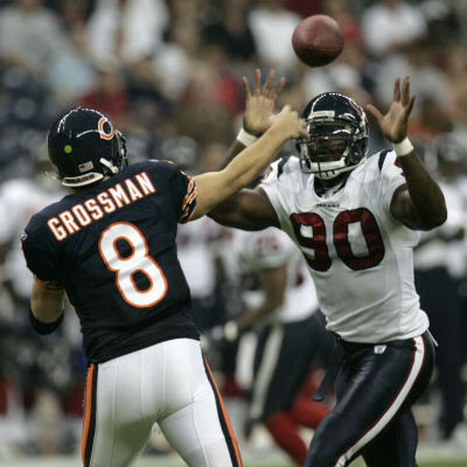 Rex Grossman, a former No. 1 pick of the Bears, is expected to join Mario Williams and the Texans at minicamp next week. Photo: Brett Coomer, Houston Chronicle