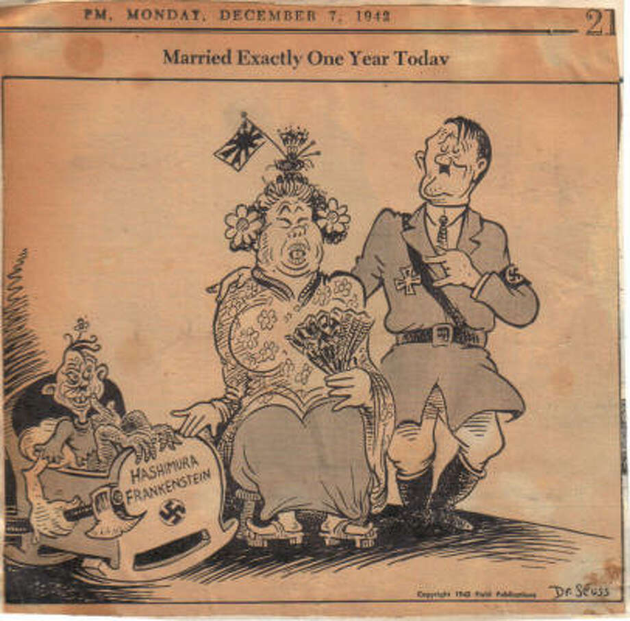 """Married Exactly One Year Today,"" by Theodor Seuss Geisel was published in the New York newspaper PM in 1942. Photo: GREGG AND MICHELLE PHILIPSON"