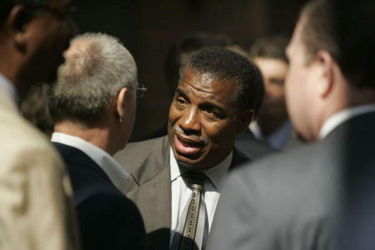 Harris County Precinct 1 Commissioner El Franco Lee was elected in 1984.