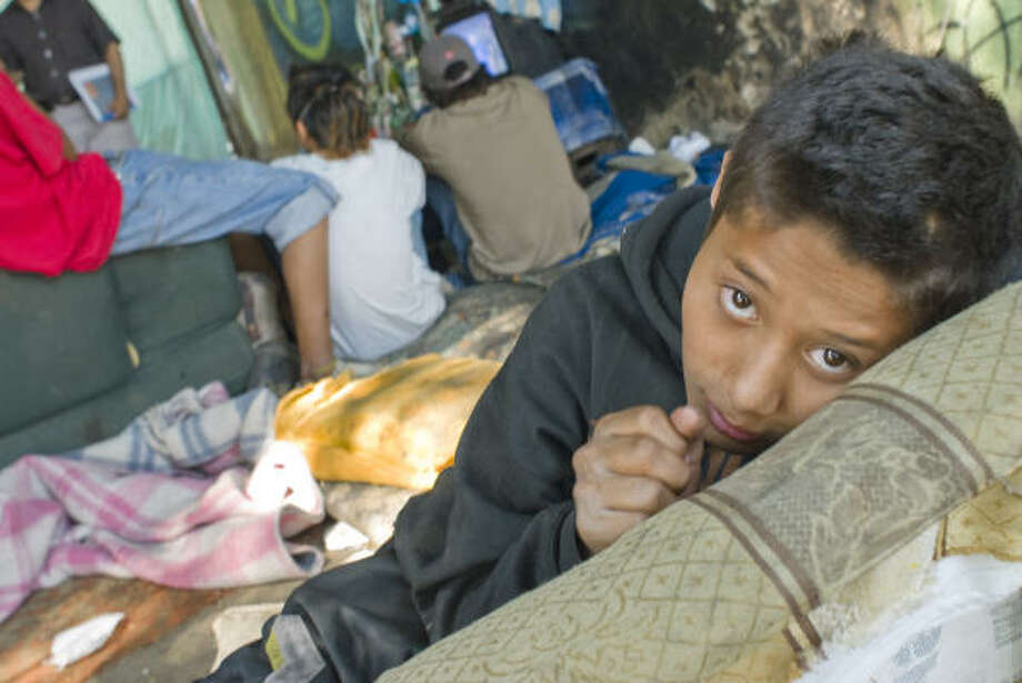 Homelessness of the young remains a major social problem in Mexico City. Photo: Keith Dannemiller, Chronicle