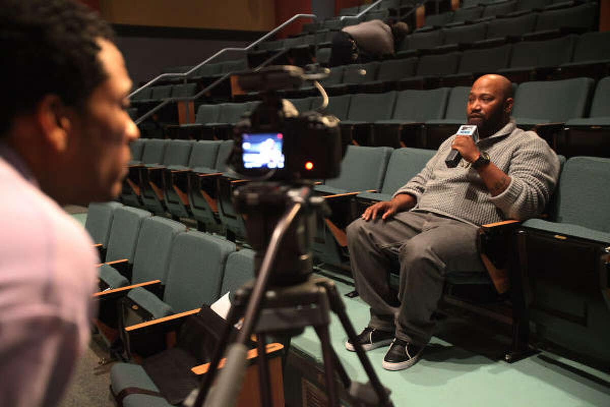 """Rapper Bernard """"Bun B"""" Freeman is interviewed by MTV after teaching a Rice University class on religion and hip hop."""