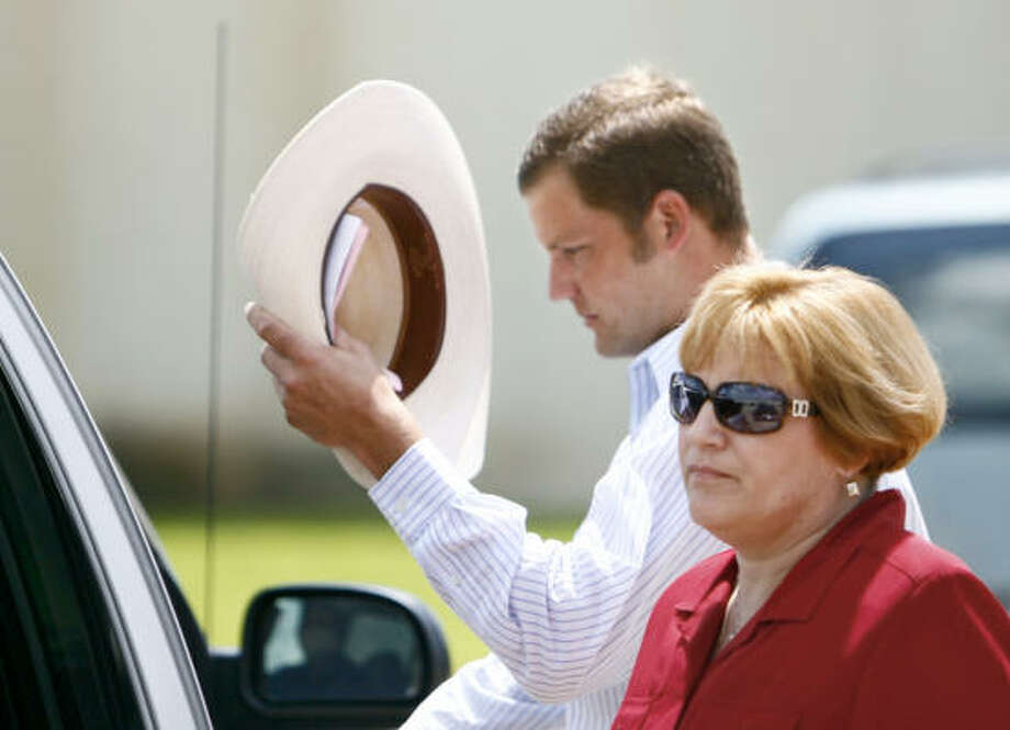 Jerome Heath Novak leaves the Brazoria County sheriff's detention center after being charged with cattle theft in June. He pleaded guilty that same month to similar charges in Fort Bend County. Photo: Nick De La Torre, HOUSTON CHRONICLE