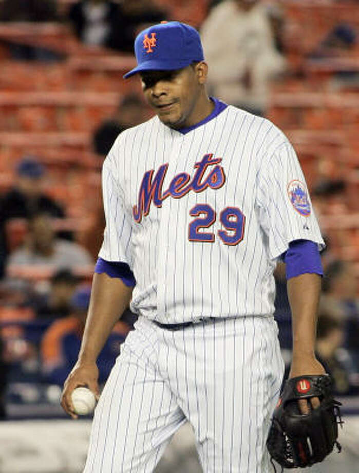 Righthander Jorge Sosa, who was recently designated for assignment by the New York Mets, has signed a minor-league contract with the Astros. Photo: Ed Betz, AP