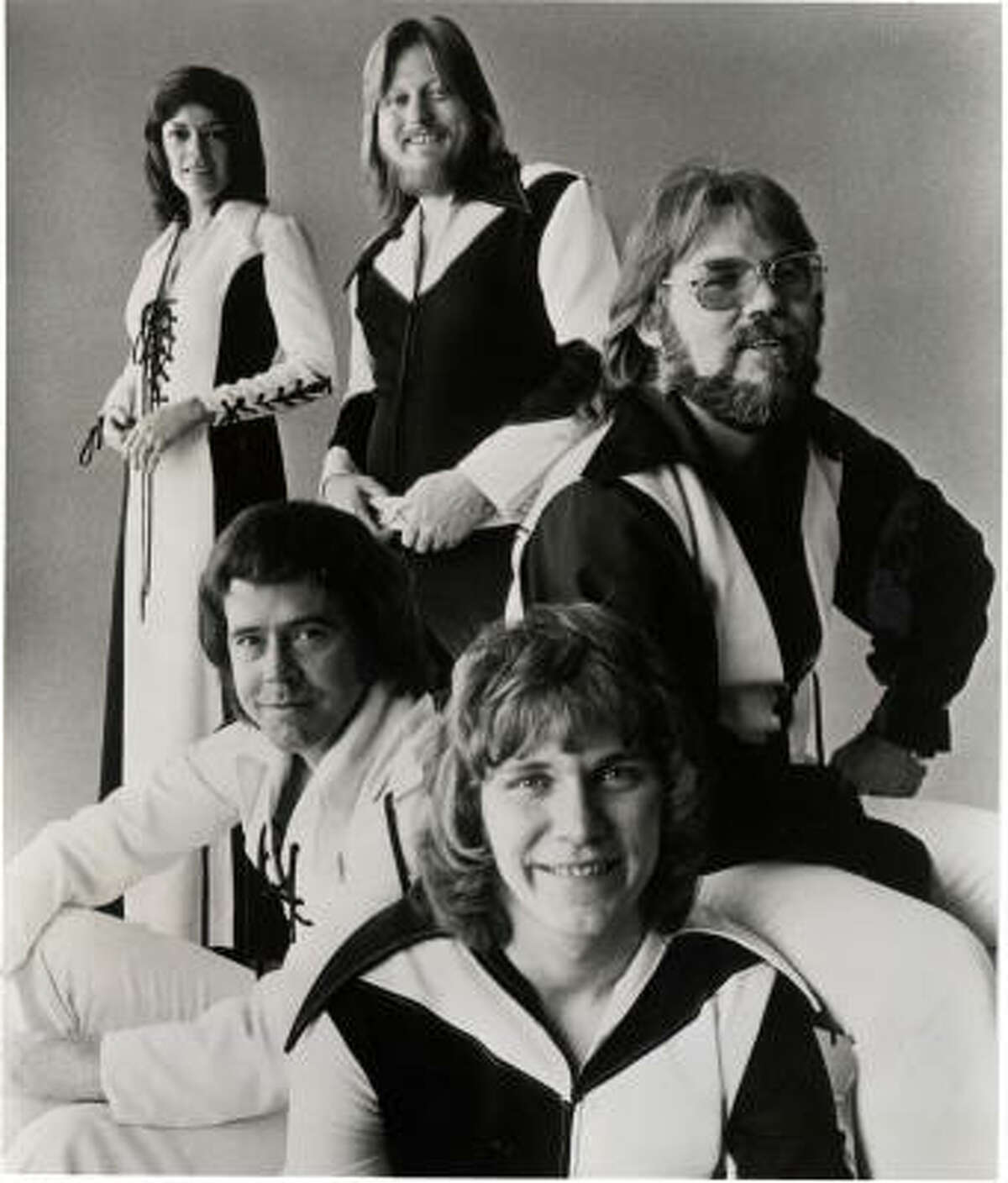Jones, center back, worked the drums for Kenny Rogers and The First Edition, featuring, from left, Thelma Camacho, Mike Settle, Terry Williams and Rogers.