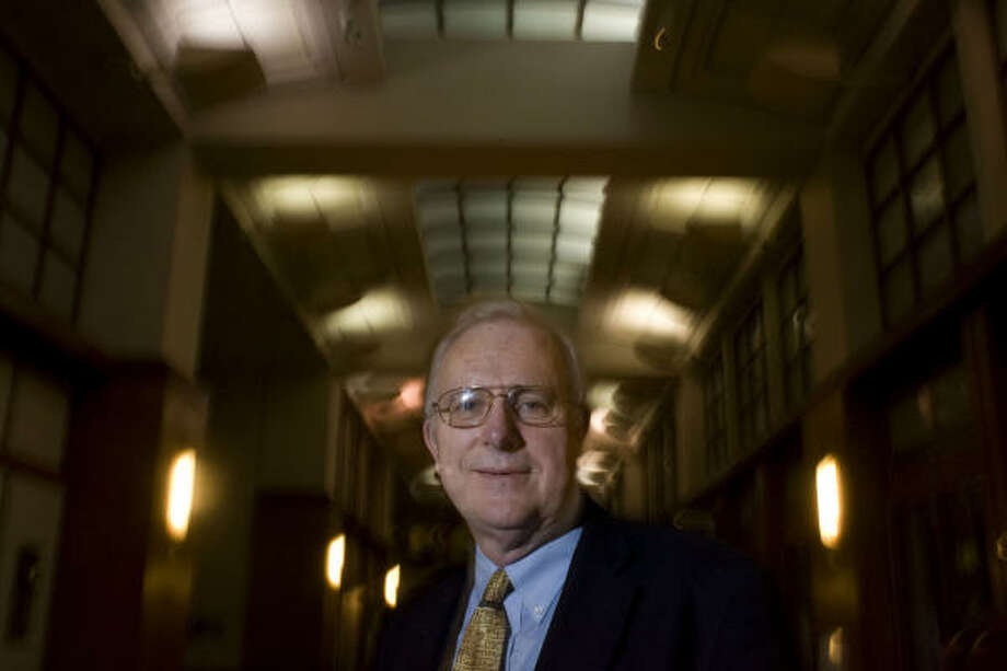 James Olson, author of a new history of the University of Texas M.D. Anderson Cancer Center, has also undergone treatment there for two different cancers. Photo: Johnny Hanson, Chronicle