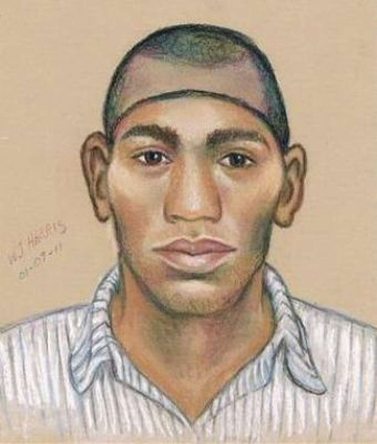 The suspect was described as a 6-foot-tall black male wearing a stocking cap and a white and black checkered shirt.