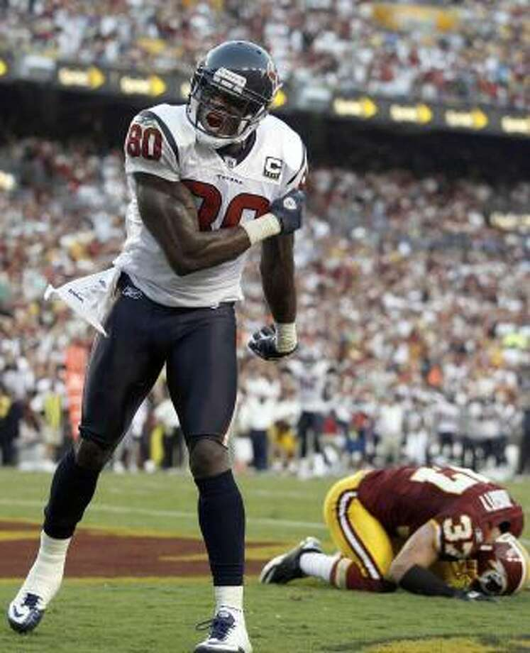 Texans receiver Andre Johnson is expected to play Sunday against Dallas. Photo: Evan Vucci, AP