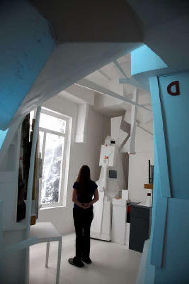 Menil Collection's re-creation of German modernist Kurt Schwitters' Merzbau installation. Photo: Mayra Beltran, Chronicle