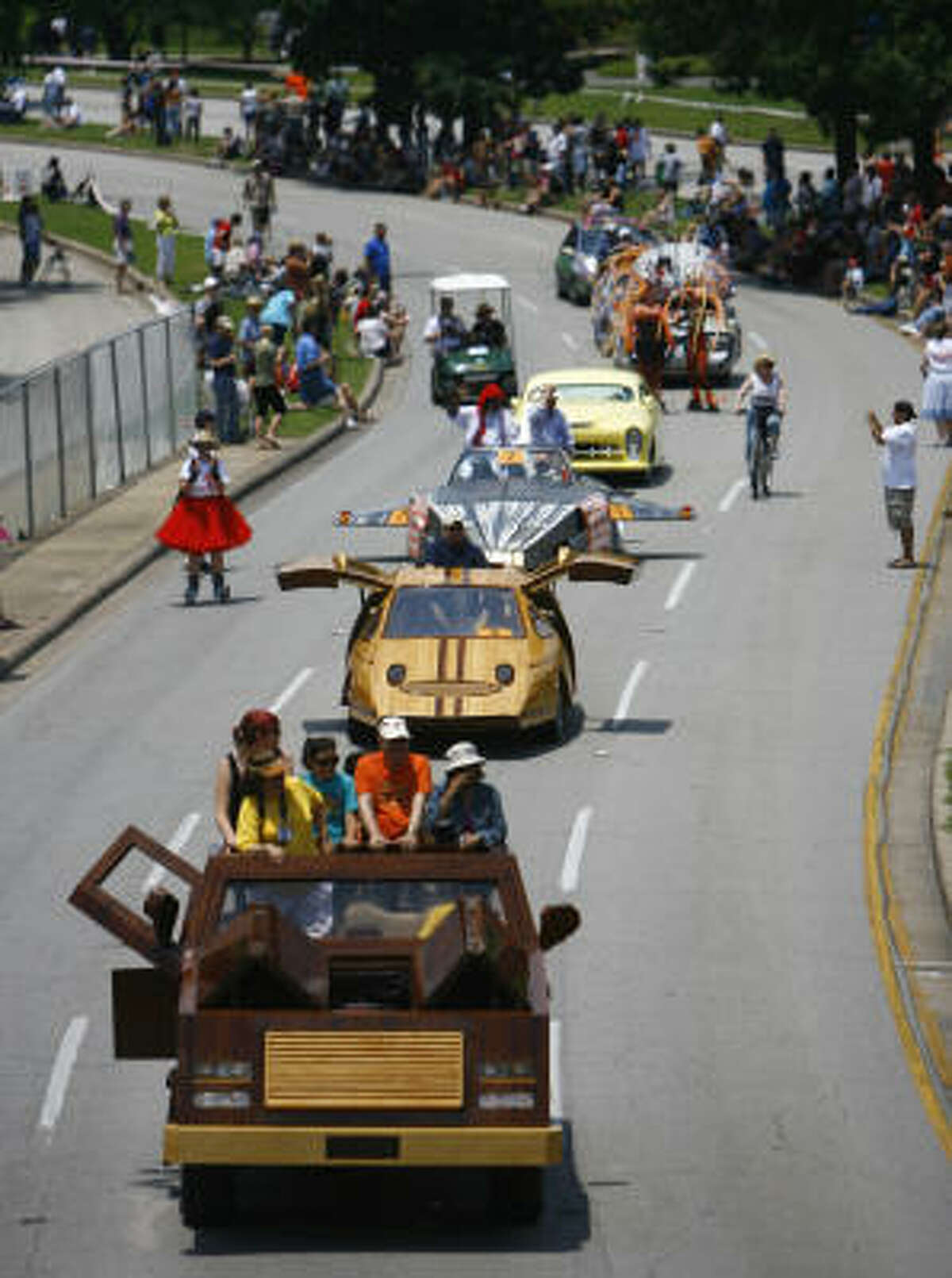 The 20th annual Houston Art Car Parade had cars of different sizes, styles and material mediums Saturday on Allen Parkway in Houston.