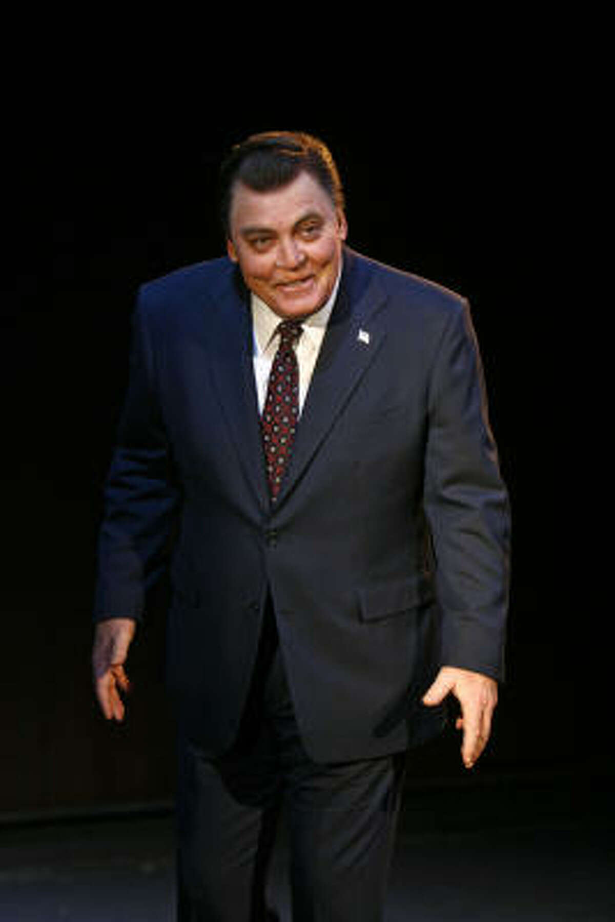 """""""Nixon (is) not unlike the great roles in Shakespeare,"""" says Keach."""