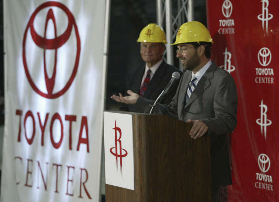 George Postolos shepherded the Rockets through the arena referendum and move to the Toyota Center. Photo: Buster Dean, Houston Chronicle