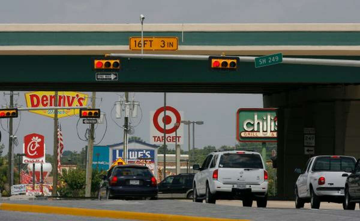 Many businesses on FM 2920 are practically in the shadow of the 249 bypass. Some businesses in Tomball are complaining that theirbusiness has declined since TxDot opened a bypass on Texas 249 that allows motorists to avoid traffic lights in the town's central business district.