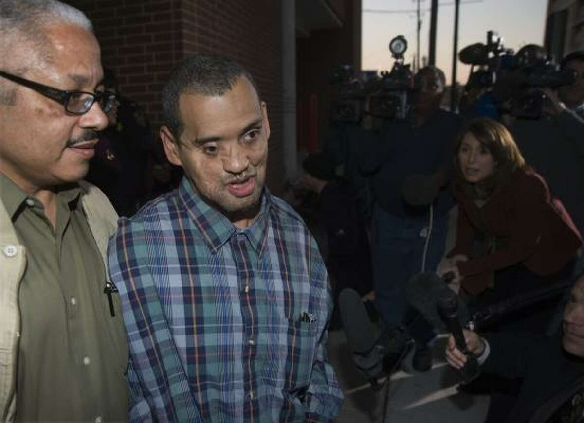 Ricardo Rachell leaves the Harris County Jail on Dec. 12, having spent years urging prosecutors to investigate attacks that continued after he was imprisoned in an 8-year-old's sexual assault.