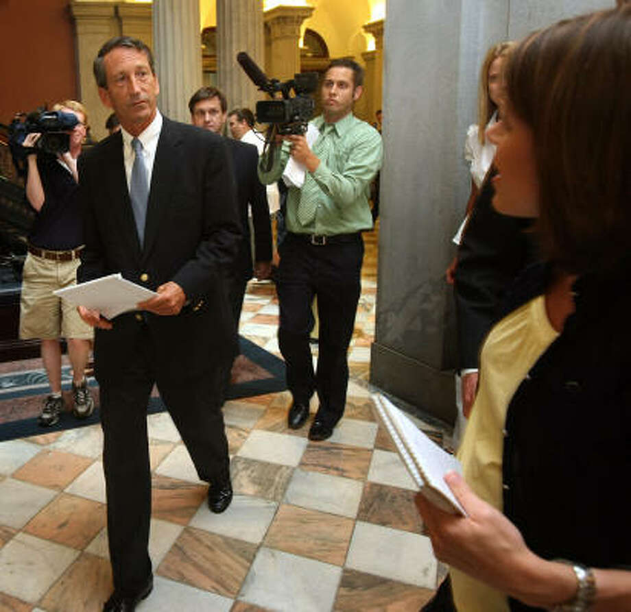 Mark Sanford is the second prominent Republican this month (after John Ensign) to announce an extramarital affair. Photo: Tim Dominick, The State
